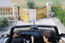 ouverture du portail depuis la voiture